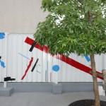 Op Art dans la cour du primaire